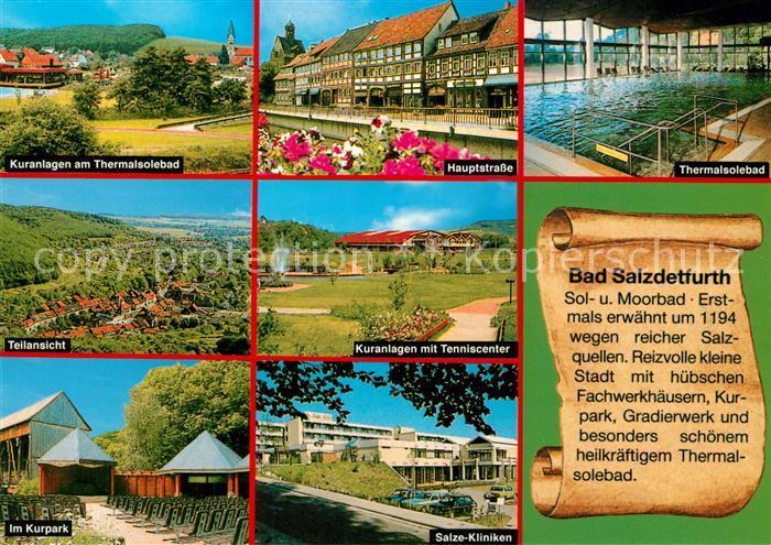 AK / Ansichtskarte Bad_Salzdetfurth Hauptstrasse Thermalsolebad Salze Kliniken Kuranlagen  Bad_Salzdetfurth