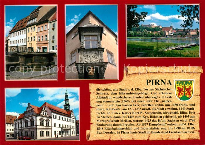 AK / Ansichtskarte Pirna Am Markt Engelserker Elbepartie Rathaus Pirna