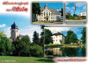 AK / Ansichtskarte Selm Amtshaus in Bork Kreisverkehr St Stephanus Kirche Burg Botzlar Selm