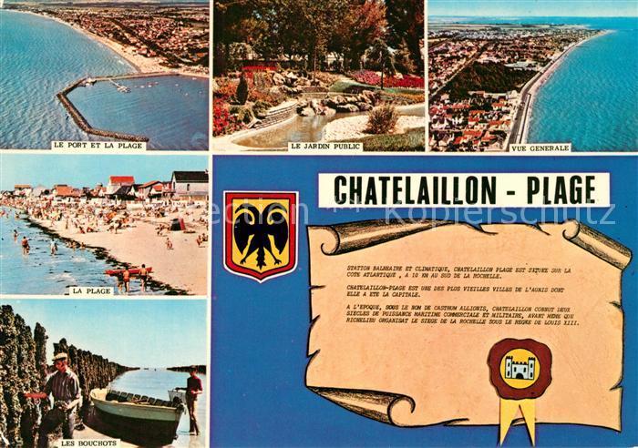 AK / Ansichtskarte Chatelaillon Plage Le Port Le jardin public Vue generale La Plage Les Bouchots Chatelaillon Plage
