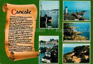 AK / Ansichtskarte Cancale Le port Le jetee Les rochers de la Pointe du Grouin et Pointe de la Mouliere Port Briac Cancale