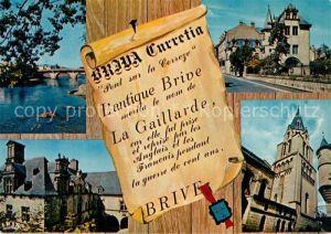 AK / Ansichtskarte Brive_Correze Le Pont Cardinal et la Correze Le Musee Rupin Hotel de Labenche Eglise Saint Martin Brive Correze