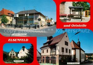 AK / Ansichtskarte Elsenfeld Rathaus Ortsteile Eichelsbach Rueck Schippach Elsenfeld