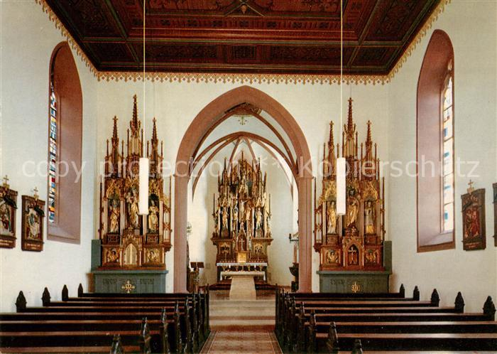AK / Ansichtskarte Klingenberg_Main Katholische Kirche Innenansicht Altar Klingenberg Main