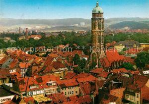 AK / Ansichtskarte Goettingen_Niedersachsen Panorama Blick auf Jacobikirche Goettingen Niedersachsen