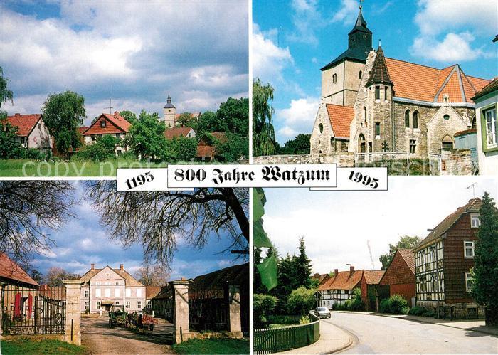 AK / Ansichtskarte Watzum Teilansichten Kirche Schloss Watzum