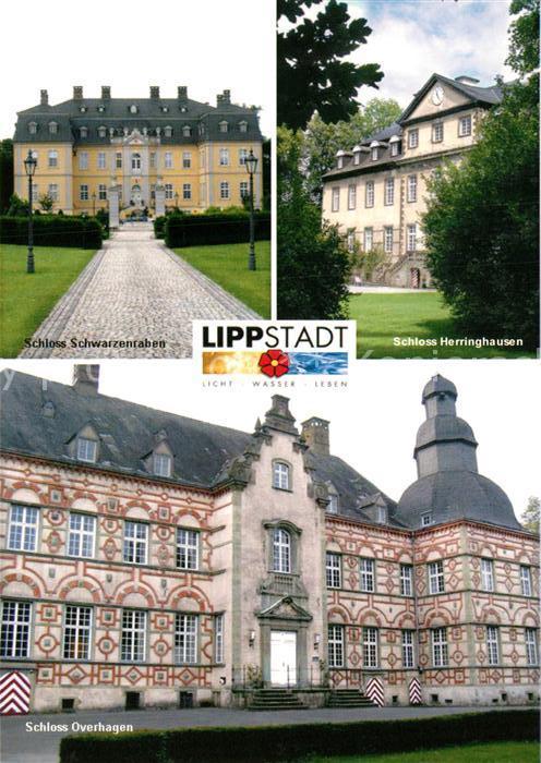 AK / Ansichtskarte Lippstadt Schloss Schwarzenraben Schloss Herringhausen Schloss Overhagen Lippstadt