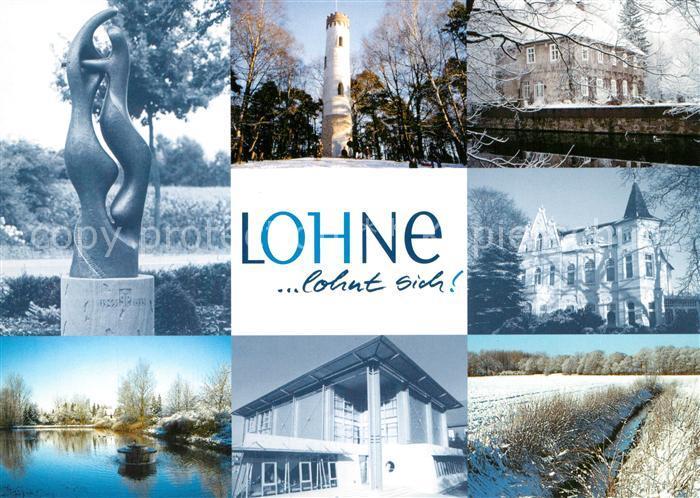 AK / Ansichtskarte Lohne Plastik Turm Schloss Weiher Graben Lohne