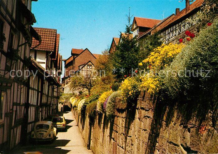 AK / Ansichtskarte Bad_Sooden Allendorf Alte Fachwerkhaeuser am Fischerstad Stadtmauer Bad_Sooden Allendorf