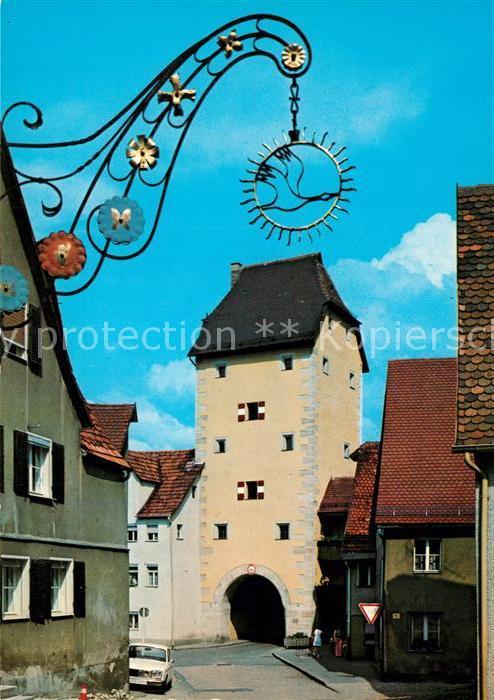 AK / Ansichtskarte Hersbruck Partie am Wassertor Tuerschild Hersbruck