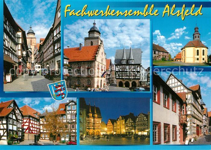 AK / Ansichtskarte Alsfeld Fachwerkensemble Altstadt Kirche Alsfeld
