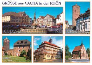 AK / Ansichtskarte Vacha Vitusbrunnen Markt Hotel Adler Widemarkter Strasse Storchenturm Burg Wendelstein Rathaus Klosterkirche Vacha
