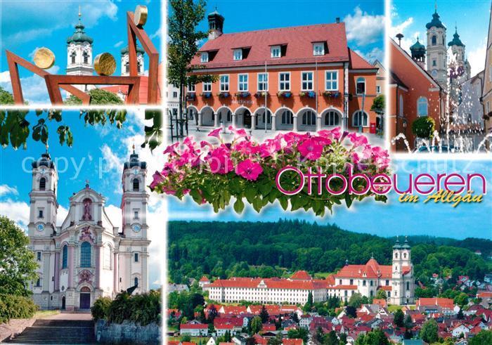 AK / Ansichtskarte Ottobeuren Ortsansicht mit Basilika Kloster Ottobeuren