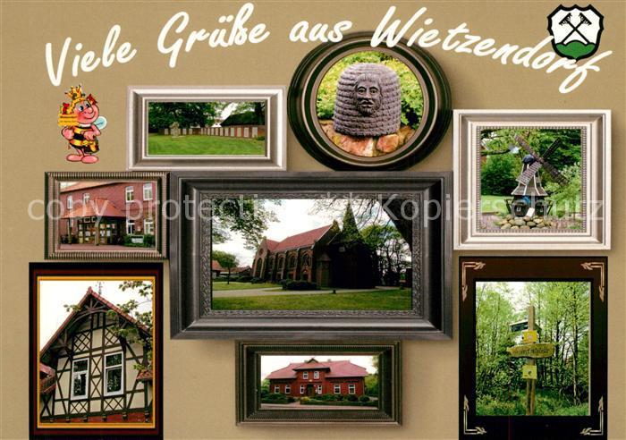 AK / Ansichtskarte Wietzendorf Sehenswuerdigkeiten Bilderrahmen Wietzendorf