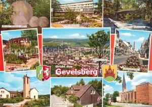 AK / Ansichtskarte Gevelsberg Seufzerallee Stadtgarten Kirche Jugendherberge Mittelstrasse Stadtpanorama Gevelsberg