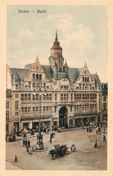 AK / Ansichtskarte Aachen Markt Aachen