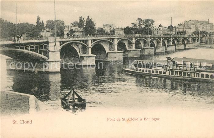 AK / Ansichtskarte Saint_Cloud Pont de Saint Cloud a Boulogne Saint Cloud