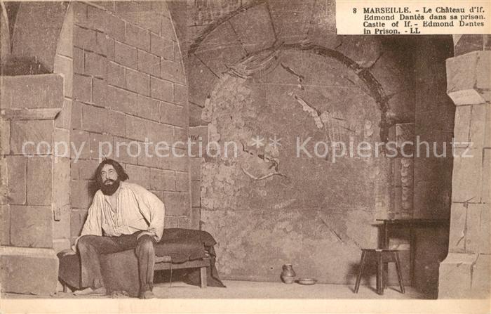 AK / Ansichtskarte Marseille_Bouches du Rhone Chateau d'If Edmont Dantes dans sa prison Marseille