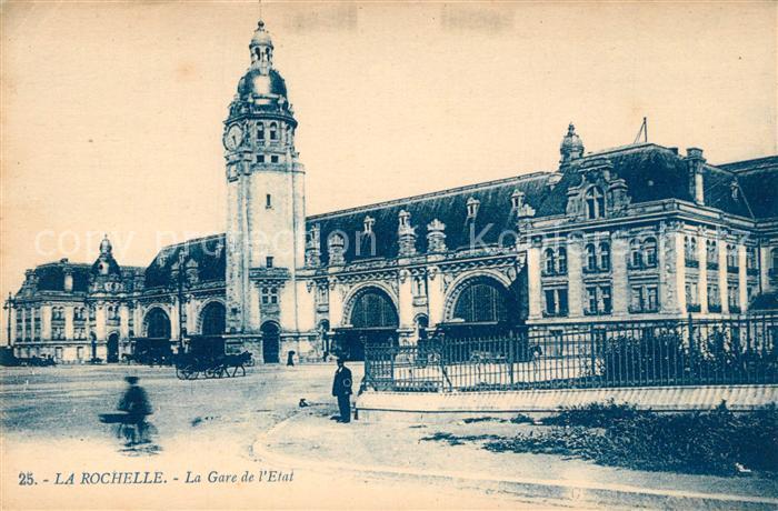 AK / Ansichtskarte La_Rochelle_Charente Maritime La Gare de l Etat La_Rochelle