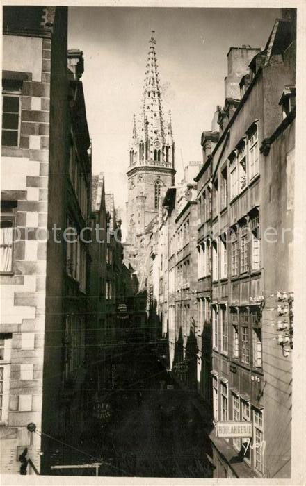 AK / Ansichtskarte Saint Malo_Ille et Vilaine_Bretagne La Grane Rue et la Cathedrale Saint Malo_Ille et Vilaine