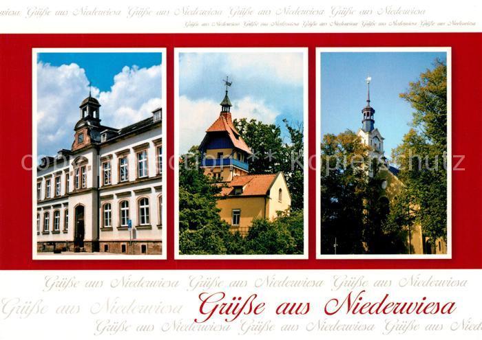 AK / Ansichtskarte Niederwiesa Schloss Kirche Niederwiesa