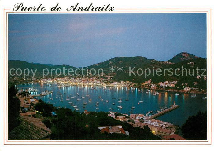 AK / Ansichtskarte Andraitx Puerto nocturno Andraitx