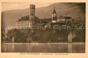 AK / Ansichtskarte Hautecombe Abbaye Le Monastere Vue prise du Lac Hautecombe