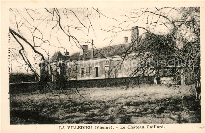 AK / Ansichtskarte La_Villedieu du Clain Le Chateau Gaillard La_Villedieu du Clain