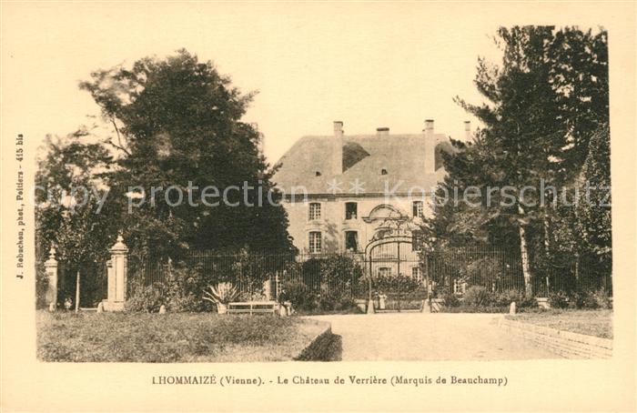 AK / Ansichtskarte Lhommaize Le Chateau de Verriere  Lhommaize