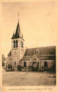 AK / Ansichtskarte Chatenay sur Seine Eglise de Chatenay Clocher Chatenay sur Seine