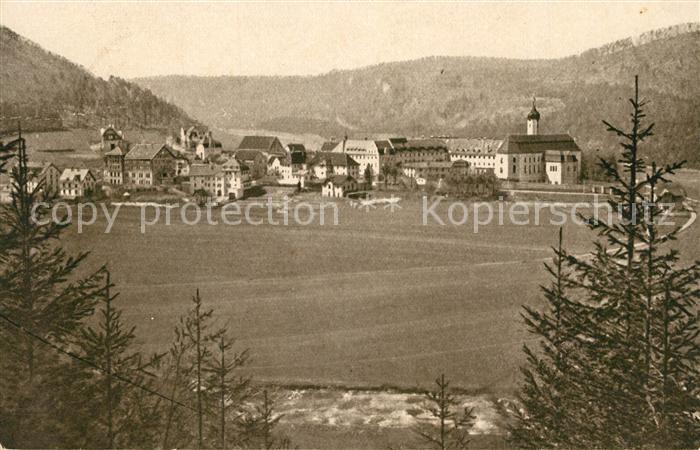AK / Ansichtskarte Beuron_Donautal Ortsansicht mit Kloster Beuron Donautal