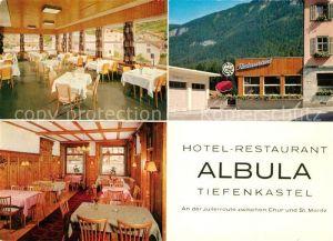AK / Ansichtskarte Albula Tiefenkastel Hotel Restaurant Albula Julierroute Albula