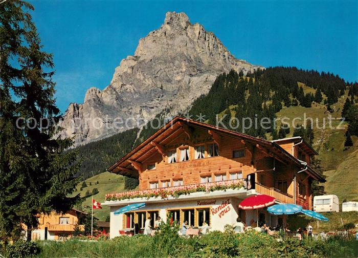 AK / Ansichtskarte Kandersteg_BE Restaurant Rendez Vous Camping  Kandersteg_BE