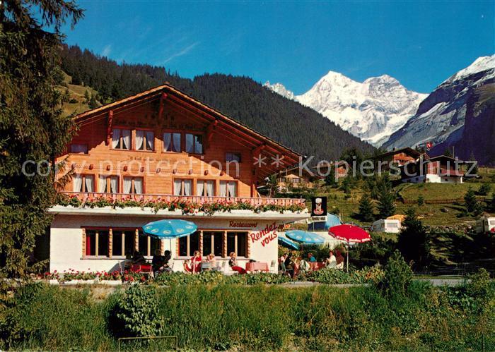 AK / Ansichtskarte Kandersteg_BE Restaurant Rendez Vous Bluemlisalp Kandersteg_BE