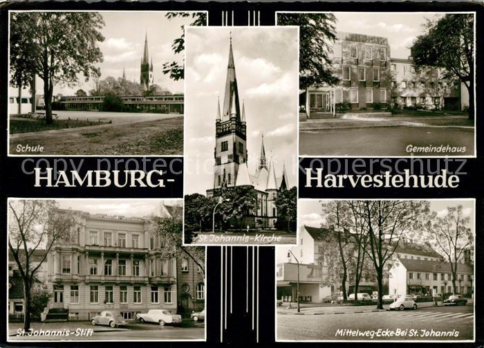 AK / Ansichtskarte Harvestehude Schule Mittelweg Ecke St. Johannis Gemeindehaus  Harvestehude