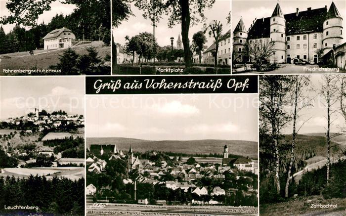AK / Ansichtskarte Vohenstrauss Gesamtansicht Schutzhaus Leuchtenberg Marktplatz Friedrichsburg Zottbachtal Vohenstrauss