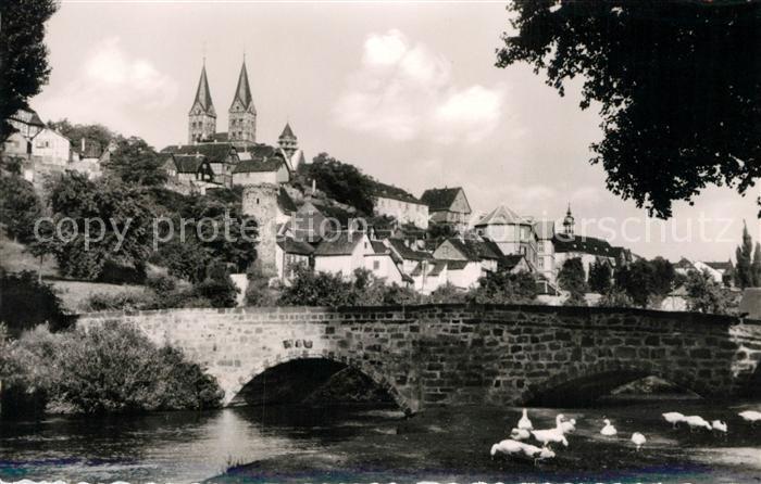 AK / Ansichtskarte Fritzlar Ederbruecke Historische Stadt mit Dom Fritzlar