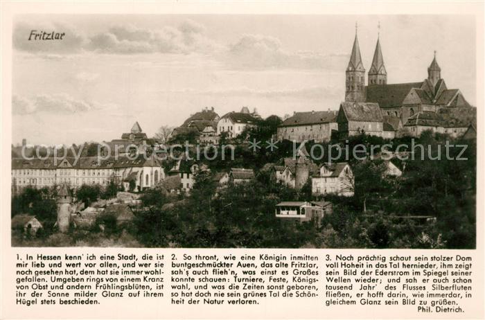 AK / Ansichtskarte Fritzlar Altstadt mit Dom Fritzlar