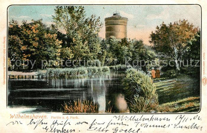 AK / Ansichtskarte Wilhelmshaven Partie im Park Wilhelmshaven