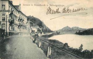AK / Ansichtskarte Rolandseck Uferstrasse mit Siebengebirge Rolandseck