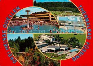 AK / Ansichtskarte Bad_Fuessing Thermalbad Fliegeraufnahme Bad_Fuessing