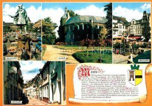 AK / Ansichtskarte Moers Neumarkt Schloss Altmarkt Altstadt Chronik Moers