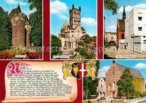 AK / Ansichtskarte Neuss Obertor Sankt Quirinus Sebastianus Chronik Zeughaus Neuss