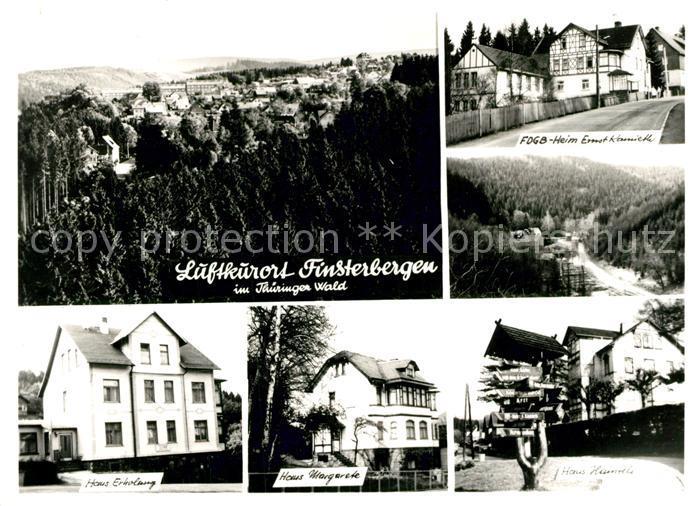 AK / Ansichtskarte Finsterbergen Heim Ernst Kamieth Haus Erholung Haus Margarete Haus Hainfels  Finsterbergen