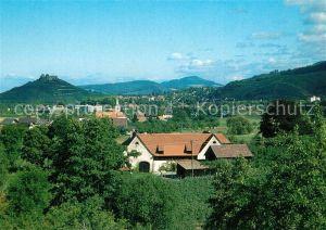 AK / Ansichtskarte Staufen_Breisgau Panorama Blick ueber Grunern mit Burg Staufen Breisgau