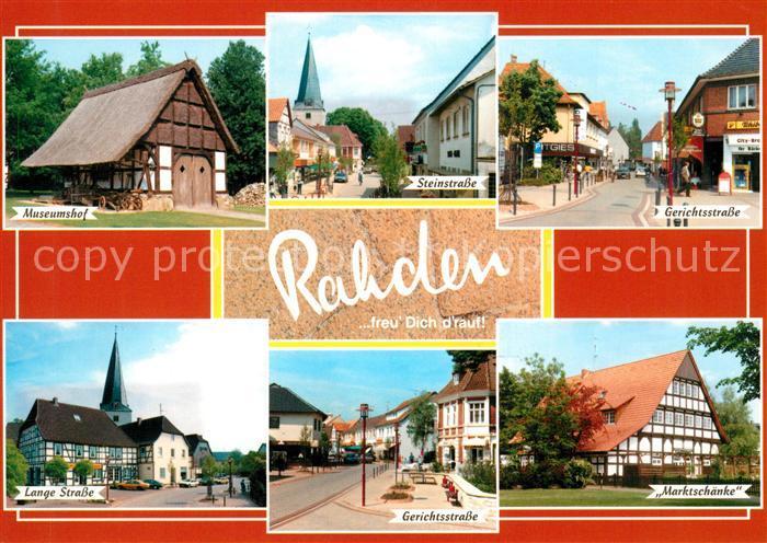 AK / Ansichtskarte Rahden_Westfalen Museumshof Strassenpartien ...