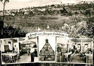 AK / Ansichtskarte Bergen Enkheim Gasthaus Goldener Engel Fachwerkhaus Partie am Fluss Bergen Enkheim