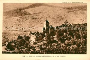 AK / Ansichtskarte Haut Koenigsbourg_Hohkoenigsburg Chateau Vue a vol d Oiseau Haut Koenigsbourg