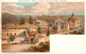 AK / Ansichtskarte Roma_Rom Souvenir des Trois Fontaines Roma_Rom