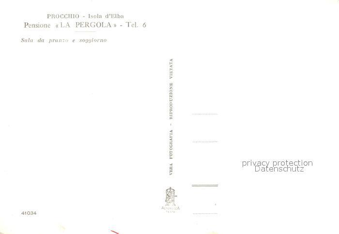 AK / Ansichtskarte Procchio_Isola_d_Elba Pensione La Pergola Sala da pranzo  e soggiorno Ristorante